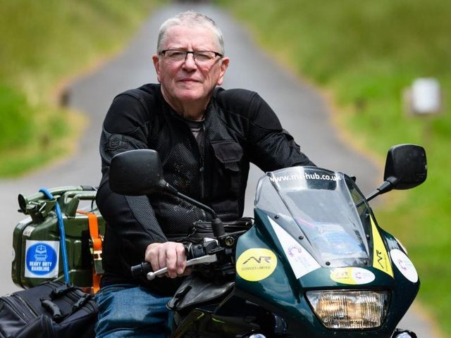 Jim will join other bike enthusiasts to do the challenge on Monday