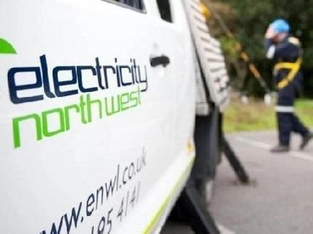 """Electricity North West said the power cut in Chorley has been caused by an """"unexpected incident"""" with a high voltage cable near Cowling Brow, which was first reported at 7.30am this morning (Friday, June 18)"""