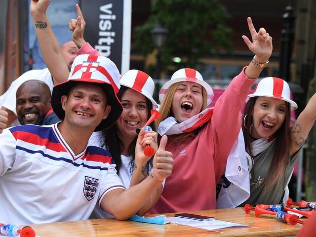 England v Scotland at Flag Market Fans Zone