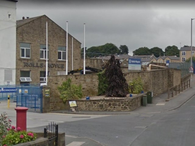 Emergency services were called to Bankfield Terrace, near to the Rolls-Royce factory in Skipton Road, Barnoldswick at 8.30pm yesterday (Saturday, June 19) after a Mercedes AMG crashed into a stone wall and a concrete fence before overturning in the road. Pic: Google