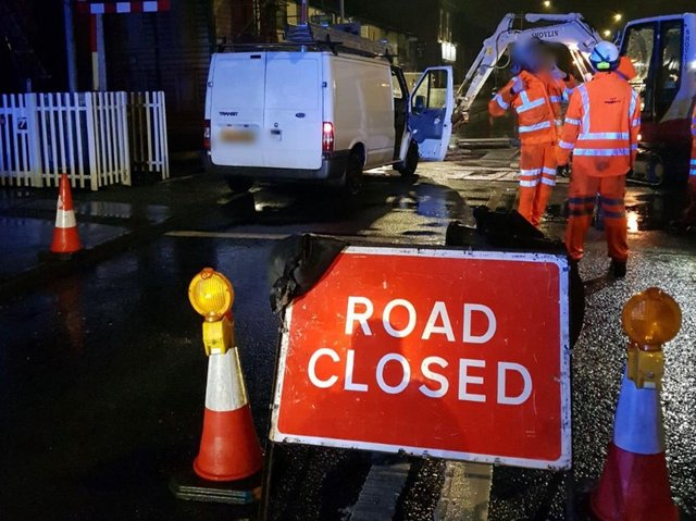Station Road had been closed to allow works to take place at night, but the 47-year-old van driver ploughed through the crossing and narrowly avoided hitting a pair of Network Rail workers