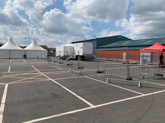 A walk-in vaccination centre has opened in Chorley's Friday Street car park