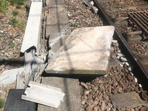 The stone caused damage to nine passing trains, electrical cables and led to just shy of £20,000 in disruption costs