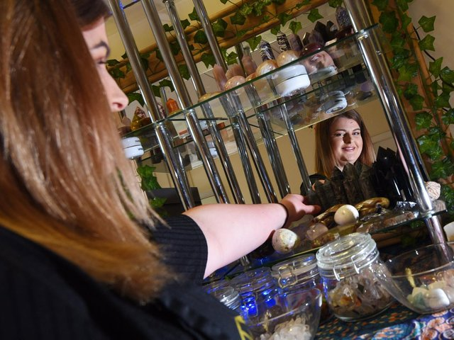 Olivia Waters, owner of For the Love of Crystals in Leyland