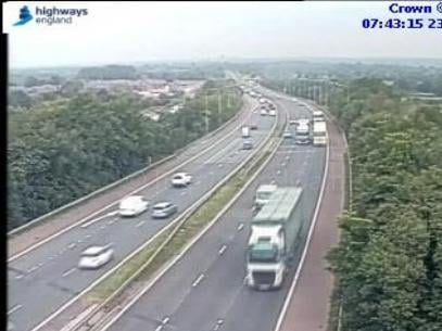 A lane closure remains in place on the M61 after a crash near Rivington Services this morning (Wednesday, June 23)