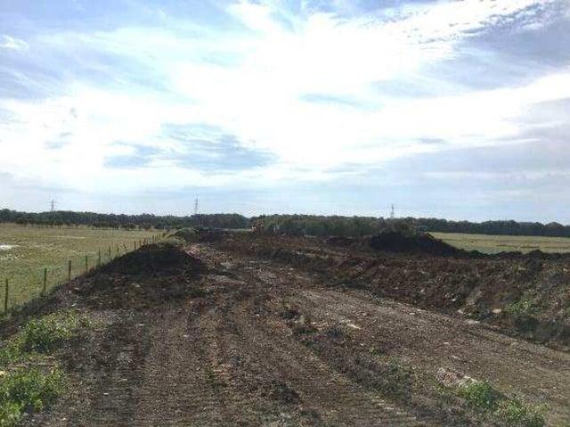 The bund during construction at Ream Hills Farm (image via Lancashire County Council)