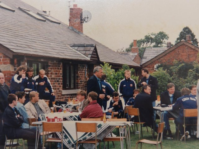 The Czech team at the barbecue in Preston in 1996