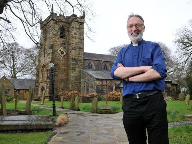 Rev Chris Nelson at St Mary's Church, Penwortham