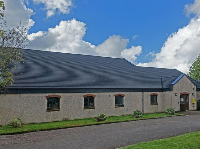 Grimsargh Village Hall with its new roof