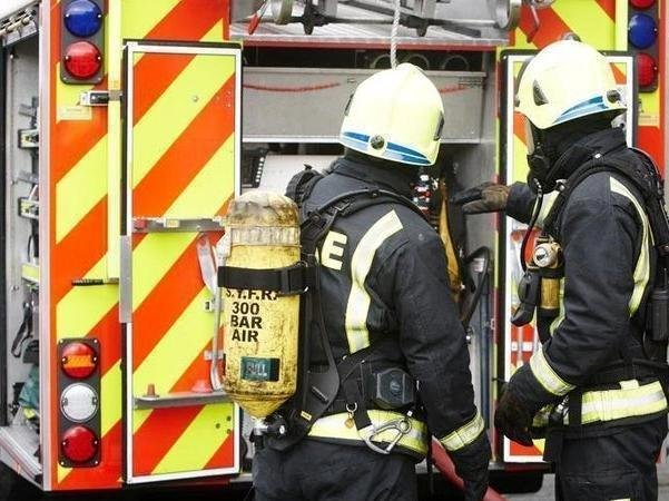 One person was given first aid treatment following a fire at a commercial garage in Canterbury Street.