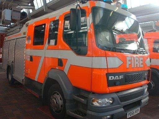 Four fire engines were called to the scene