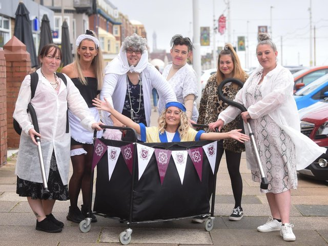 Housekeeping staff at Hotel Sheraton complete trolley dash for Molly Olly's Wishes charity