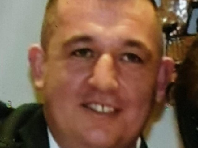 Ethan Johhnson, 41, is described as 5ft 7in tall, with brown hair in a Mohican style and of a large build. He was last seen he was wearing a grey t-shirt and black pants with a white stripe on the sides. Pic: Lancashire Police