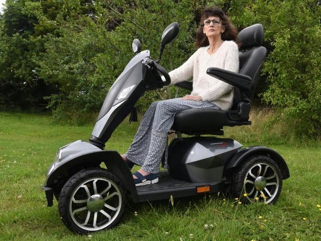 Inez Wormell on her road-legal scooter