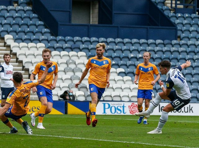 Action from Preston North End's Carabao Cup tie with Mansfield last season