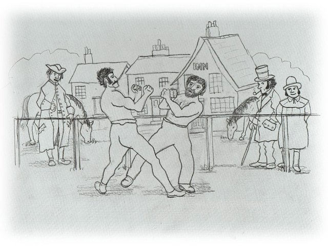 James 'Touch' Duckworth in action Illustration: David Jones