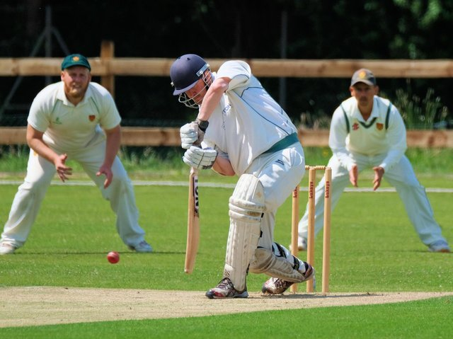 James Rounding batting for Leyland in their win over Chorley at Fox Lane