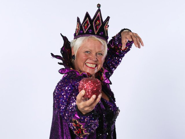 Actress Vicky Entwistle reprises her role as the Wicked Queen in Snow White and the Seven Dwarfs at Blackpool Grand Theatre