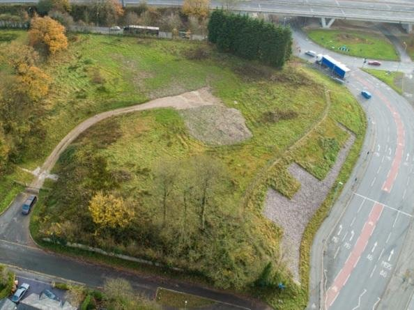 Aerial view of the site between D'Urton Lane and the M55 slip road (Image: RIBA).