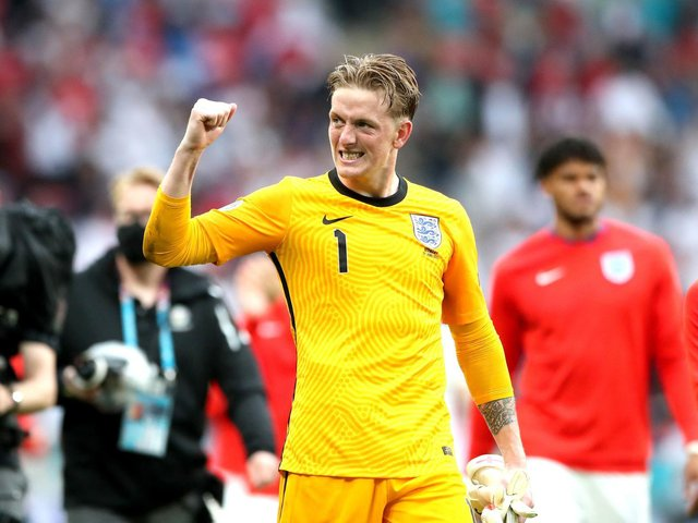 Jordan Pickford after England's 2-0 victory against Germany at Wembley