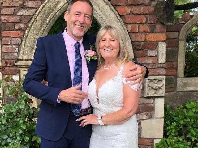 Ian and Karen Roper on their wedding day