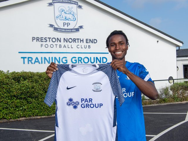Preston North End's new signing Matthew Olosunde       Picture courtesy of PNE