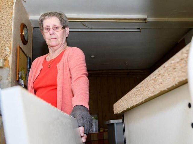 Phyllis was having sleepless nights after her kitchen was left with dodgy electrics and missing tiles