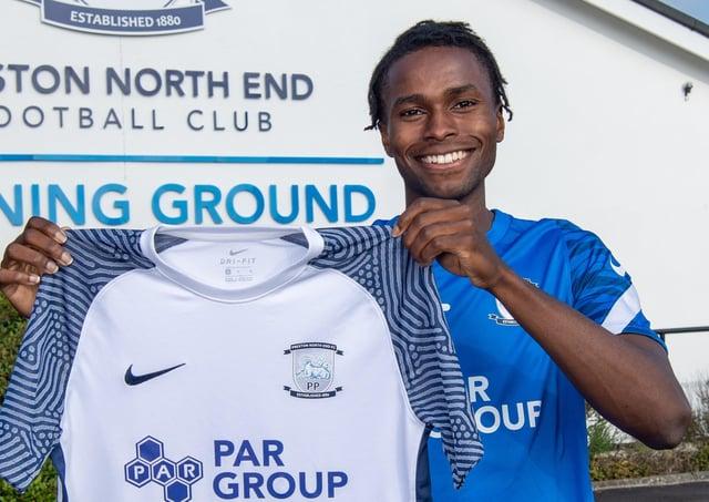 Preston North End's new signing Matthew Olosunde (photo: PNE FC)