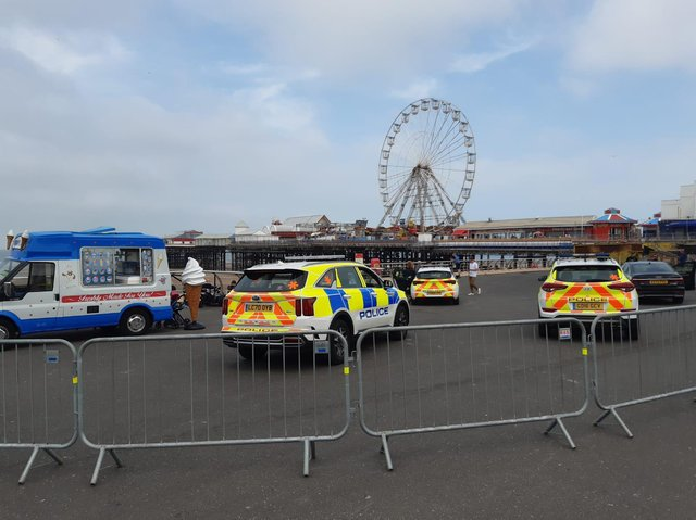 Maurice Murray's NiceOne Ice cream van plays a role in the action on Blackpool Promenade during Stay Close filming.