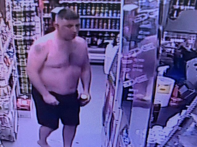Do you recognise this man? Police want to speak to him after a shopkeeper was assaulted in Nelson. (Credit: Lancashire Police)