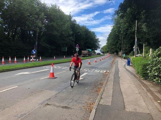 The cycle lanes on Liverpool Road were introduced as a temporary measure