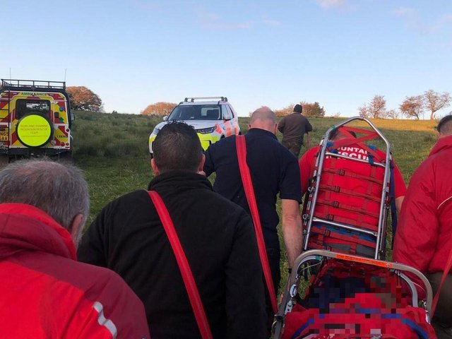 The mountain rescue team in Chorley today