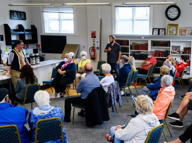 Residents air their views at a drop-in meeting in Penwortham today.