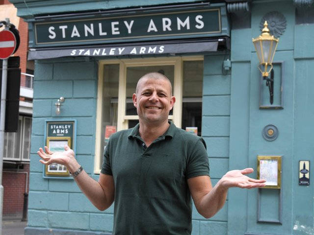 Paul Butcher, licensee of the Stanley Arms, Preston