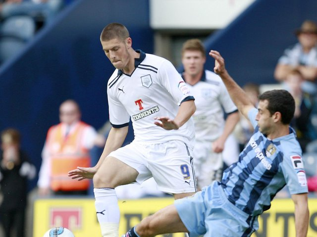 Jamie Proctor in action for Preston North End against Notts County in August 2011