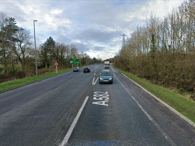 A Honda Civic car and Volkswagen Polo car were involved in a collision in Penwortham Way. (Credit: Google)