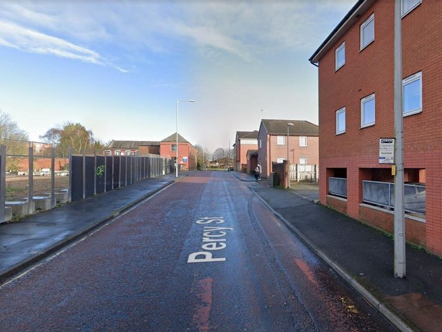 Two fire engines from Preston attended a road traffic collision in Percy Street. (Credit: Google)
