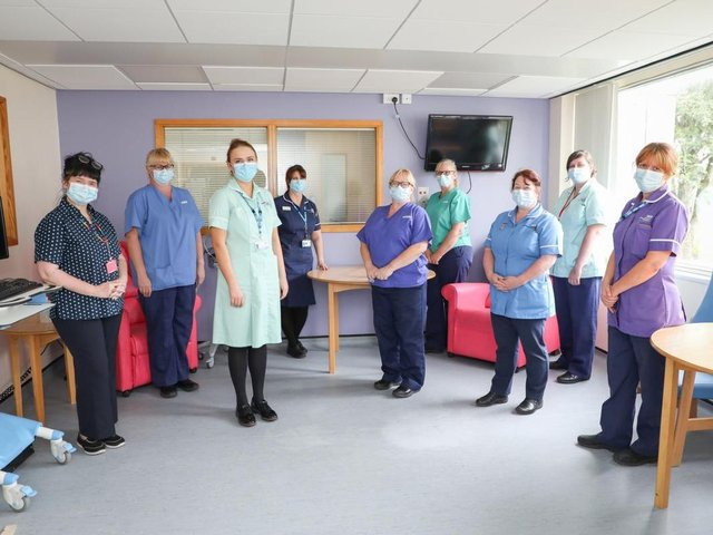 Staff inside the new Discharge Lounge at RPH