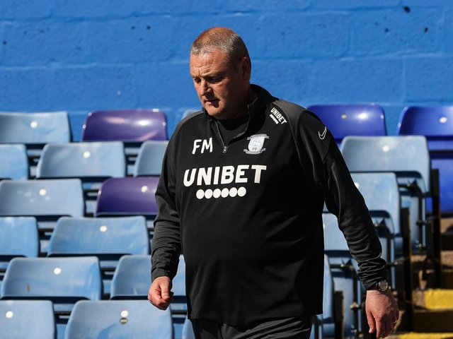 Preston North End head coach Frankie McAvoy