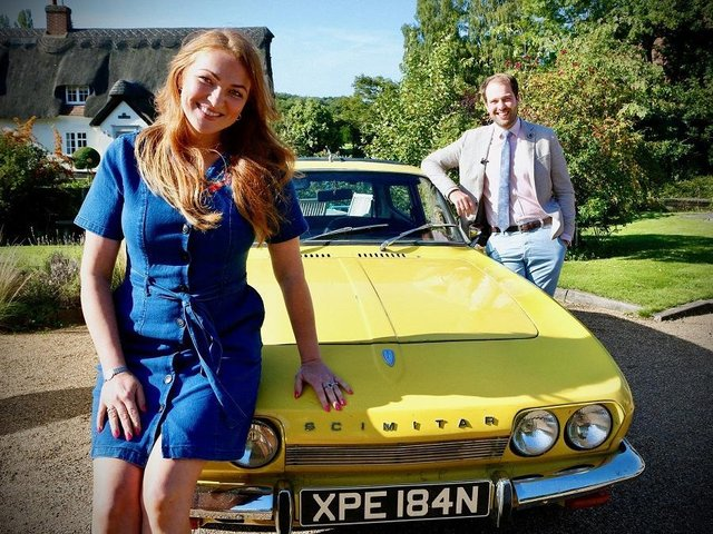 Two of the Antiques Road Trip experts, Irita Marriott and Tim Medhurst. The celebrity version of the show visited Lancaster's GB Antiques Centre, although the identity of the experts and the stars is being kept under wraps