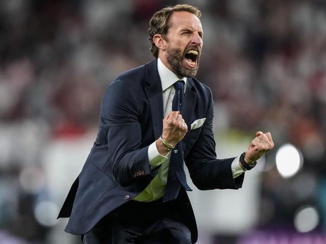 Gareth Southgate shares his joy as England reach their first major final since 1966