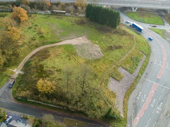 The proposed site of a new mosque at the Broughton roundabout (image:  RIBA)