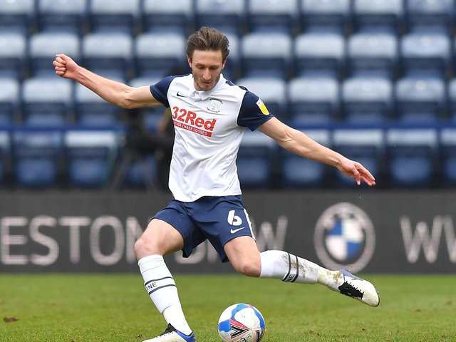 Ben Davies in action for Preston North End ahead of February's switch to Liverpool