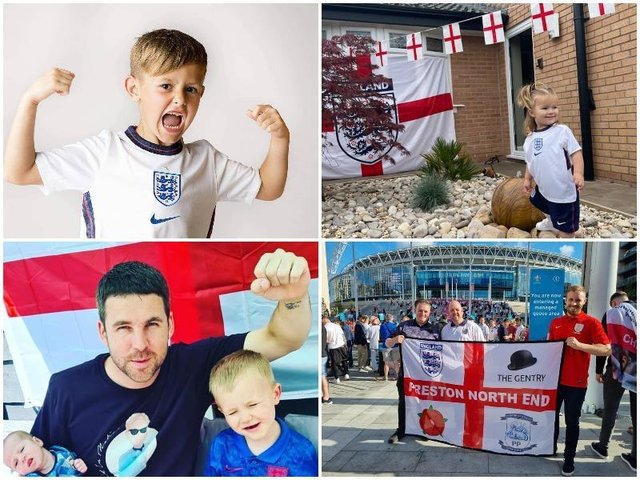 England football fans in Lancashire have wished the national team good luck ahead of Sunday's Euro 2020 final.