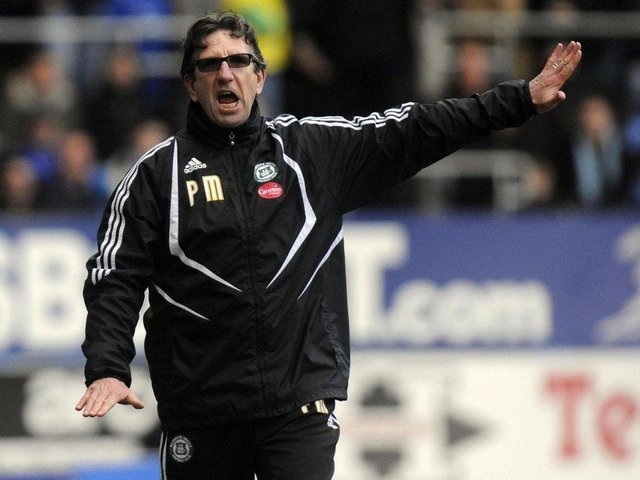 Paul Mariner pictured during his time as Plymouth manager in 2009