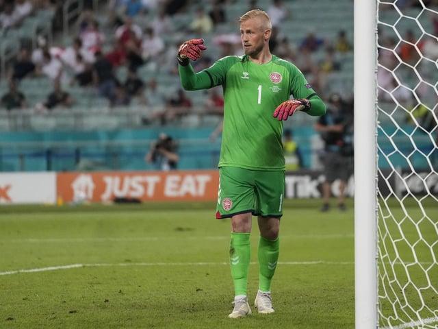 Denmark's goalkeeper Kasper Schmeichel  (Picture: AP Photo/Darko Vojinovic, Pool)