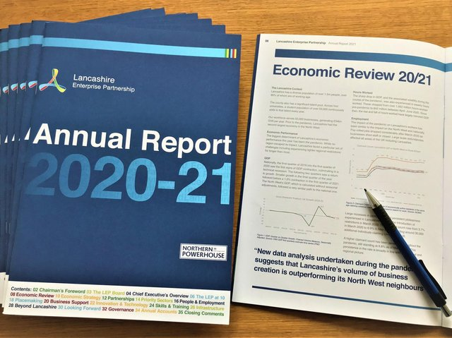 The Lancashire Enterprise Partnership's 2020/2021 report hails the resilience of county businesses