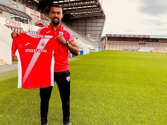 Jacob Mensah was the first of two Morecambe signings announced on Tuesday Picture: Morecambe FC