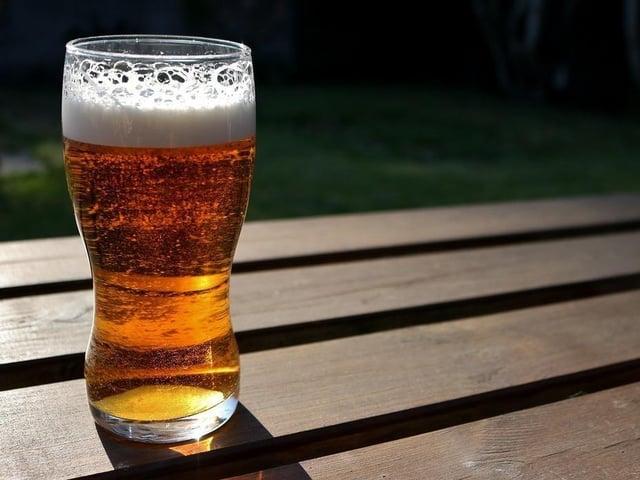 A refreshing pint after a long walk