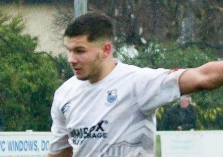Macauley Wilson scored from the penalty spot for Brig (photo: Ruth Hornby)